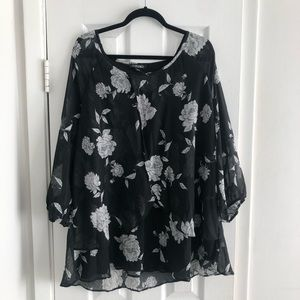 Dressbarn NWT floral layered blouse - plus size 3x
